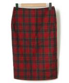 Vivienne Westwood ANGLOMANIA(ヴィヴィアンウエストウッド アングロマニア)の古着「チェックスカート」|レッド