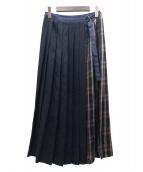 DRESSTERIOR(ドレステリア)の古着「チェックケルトスカート」|ネイビー×ボルドー