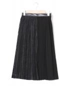 AKIRA NAKA(アキラ ナカ)の古着「プリーツスカート」|ブラック