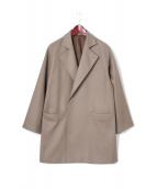 AURALEE(オーラリー)の古着「ライトメルトンオーバーコート」|グレージュ