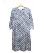 LAUTRE AMONT(ロートレアモン)の古着「ジャガードハイテンションOP」|ブルー