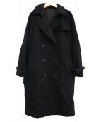MARGARET HOWELL(マーガレットハウエル)の古着「ダブルオーバーコート」 ネイビー