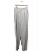 seya(セヤ)の古着「Pleated Tweed Silk Pants/ツイードパ」|ライトグレー