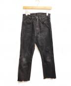 FUMIKA UCHIDA(フミカ ウチダ)の古着「カットオフデニムパンツ」|ブラック
