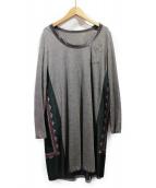 sacai(サカイ)の古着「切替ワンピース」|ライトグレー