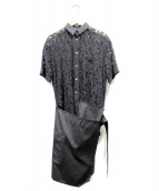 sacai(サカイ)の古着「レース切替ワンピース」|ブラック