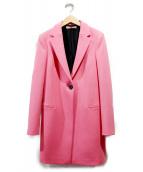 BALENCIAGA(バレンシアガ)の古着「チェスターコート」|ショッキングピンク