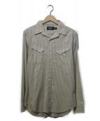 RRL(ダブルアールエル)の古着「ストライプシャツ」|アイボリー