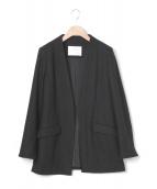 GRACE CLASS(グレースクラス)の古着「カシミヤ混ロングジャケット」|ブラック