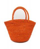 Le Voyage en Panier(ルヴォヤージュアンパニエ)の古着「カゴバッグ」 オレンジ