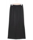 AP STUDIO(エーピーストゥディオ)の古着「マキシスリットスカート」|ブラック