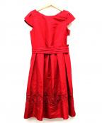 Debut De Fiore(デビュードフィオレ)の古着「裾ケミカルレースドレス」
