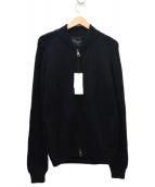 ROBERTO COLLINA(ロベルトコリーナ)の古着「ウールニットジャージジャケット」|ブラック