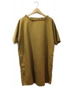 MM6(エムエムシックス)の古着「カットオフプルオーバーシャツ」|ブラウン