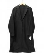 Munich(ミューニック)の古着「圧縮ニットチェスターコート」|ブラック