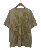 ISSEY MIYAKE(イッセイミヤケ)の古着「パッチデザインTシャツ」|オリーブ