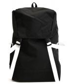 INST DESIGN WORK(インストデザインワーク)の古着「バックパック」|ブラック×ホワイト