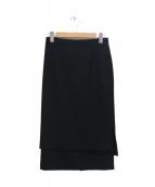 ENFOLD(エンフォルド)の古着「サイドスリットストレッチスカート」|ブラック