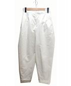 ENFOLD(エンフォルド)の古着「ワイドロールアップパンツ」|ホワイト
