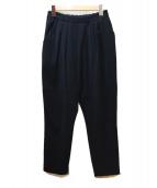 ENFOLD(エンフォルド)の古着「ダブルクロスジョッパーズパンツ」|ブラック