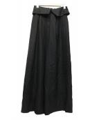 LANVIN en Bleu(ランバン オン ブルー)の古着「ワイドパンツ」|ブラック