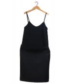 DeuxiemeClasse(ドゥーズィエム クラス)の古着「Noireキャミツキスカート」|ブラック