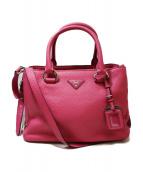 PRADA(プラダ)の古着「VITELLO DAINO/2WAYバッグ」|ピンク
