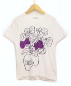 COMME des GARCONS COMME des GARCONS(コムデギャルソンコムデギャルソン)の古着「プリントTシャツ」|ホワイト