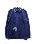 ATELIER&REPAIRS(アトリエ&リペアーズ)の古着「再構築フレンチワークジャケット」|ブルー
