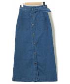 Diagram GRACE CONTINENTAL(ダイアグラムグレースコンチネンタル)の古着「ロングデニムスカート」|ブルー