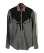 ETRO(エトロ)の古着「ウールシルクウエスタンシャツ」|グレー