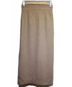 ASTRAET(アストラット)の古着「カルゼタイトスカート」|ベージュ