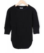 FUMIKA UCHIDA(フミカ ウチダ)の古着「ハーフスリーブサーマルカットソー」|ブラック