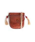 FUMIKA UCHIDA(フミカウチダ)の古着「ゴートレザーショルダーポシェット」|ブラウン