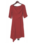 Vivienne Westwood ANGLOMANIA(ヴィヴィアンウエストウッド アングロマニア)の古着「ワンピース」|レッド