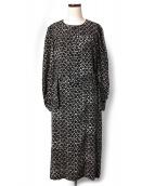 A.P.C.(アーペーセー)の古着「フロレットパターンワンピース」|ブラック