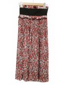 CLANE(クラネ)の古着「タペストリーフラワープリーツスカート」