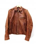 RBC(ローランドベリークリエイト)の古着「レザージャケット」 ブラウン
