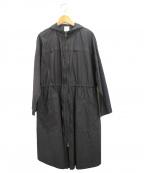 bulle de savon(ビュル デ サボン)の古着「バックギャザーコート」|ブラック