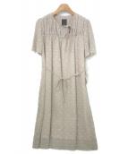 mina perhonen(ミナペルホネン)の古着「ワンピース / hiko-ki」|ベージュ