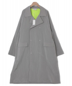 StandAlone(スタンドアローン)の古着「ナイロンオーバーコート」|グレー