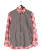 COMME des GARCONS SHIRT(コムデギャルソンシャツ)の古着「切替シャツ」|グレー
