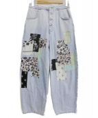 MM6(エムエムシックス)の古着「パッチワークデニムパンツ」|インディゴ