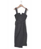 allureville(アルアバイル)の古着「メンアサシャークスキンジャンパースカート」|ネイビー