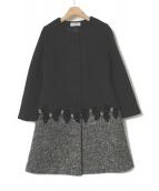 GALLERY VISCONTI(ギャラリービスコンティ)の古着「ノーカラーコート」|ブラック