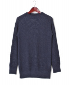 ALLEGE(アレッジ)の古着「リブクルーネックニット」|ブルー