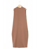 KAAREM(カーレム)の古着「ハイカラードレス」|ブラウン