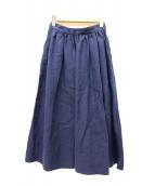 LE GLAZIK(ル・グラジック)の古着「リネンクロスギャザースカート」