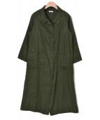 fog linen work(フォグリネンワーク)の古着「リネンコート」|オリーブ