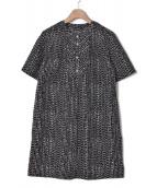 marimekko(マリメッコ)の古着「ブラウスワンピース / TRISTA」|ブラック
